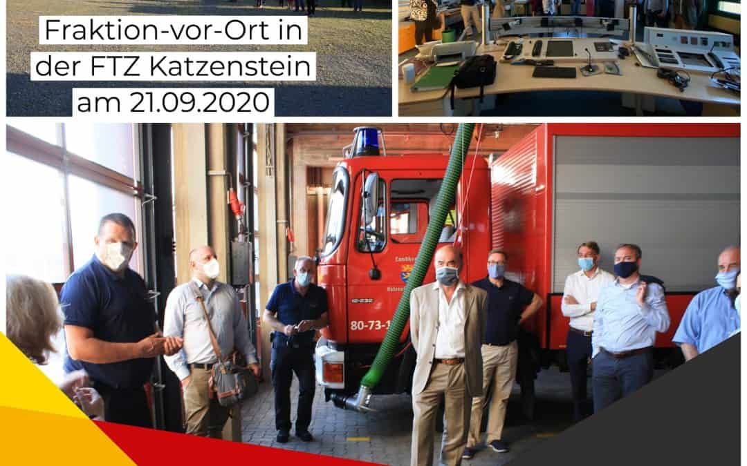 PM CDU besucht Feuerwehrtechnische Zentrale (FTZ) Katzenstein – Neubau einer FTZ an einem zentralen Standort ist eine Notwendigkeit, um das Sicherheitsbedürfnis der Bevölkerung und der Einsatzkräfte zu erfüllen