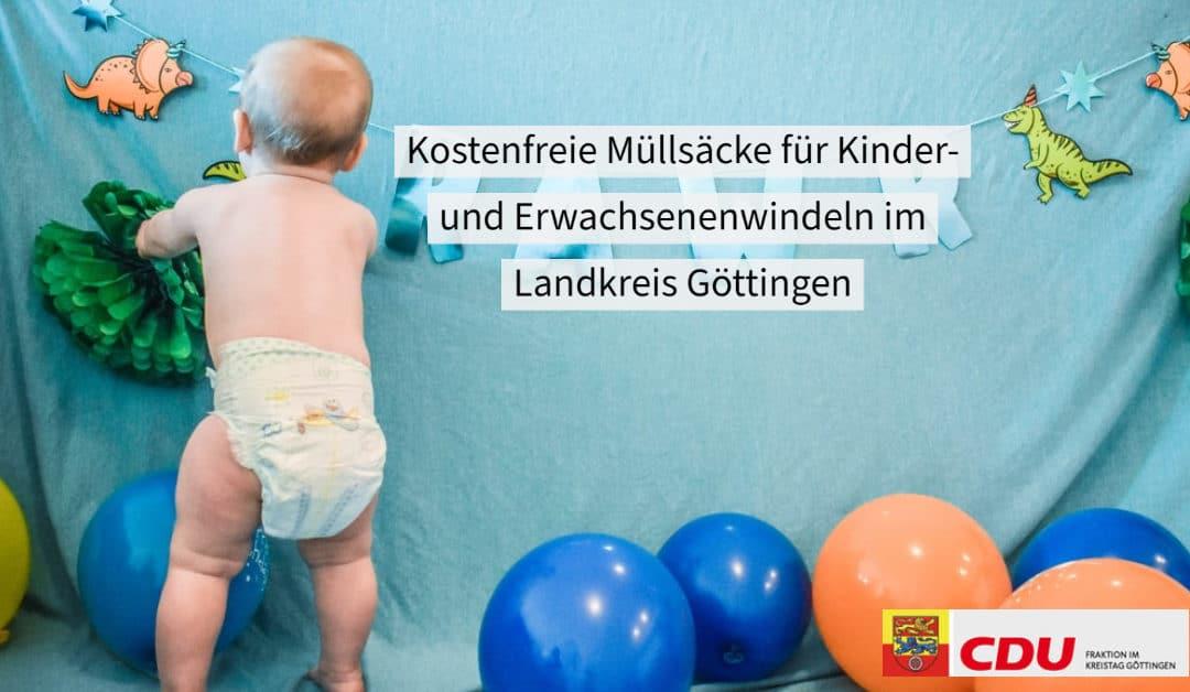 PM Kostenfreie Müllsäcke für Familien mit kleinen Kindern und an Inkontinenz leidenden Menschen im Landkreis Göttingen
