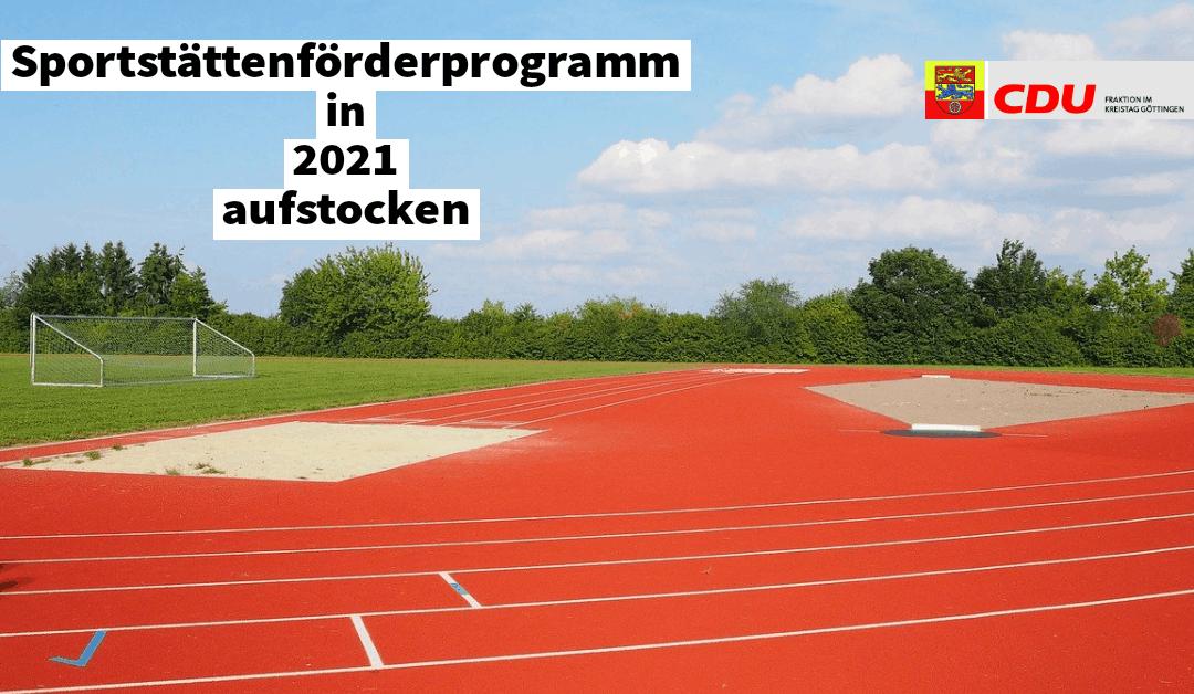 PM Entscheidend ist auf dem Platz, Grundlage bleibt der Sportplatz selbst – Sportstättenförderprogramm in 2021 aufstocken