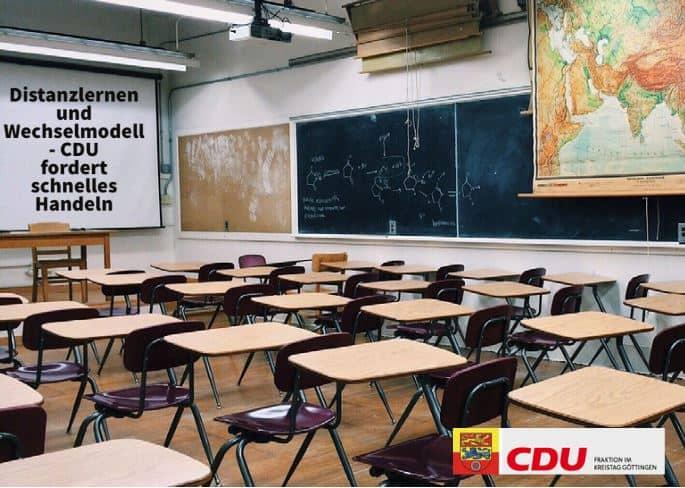 PM Distanzlernen und Wechselmodell – CDU fordert schnelles Handeln